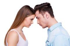 Relations sans tout compromis Photo libre de droits