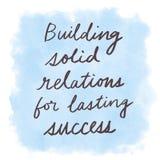 Relations solides de construction pour le succès durable image stock