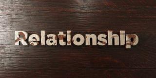 Relations - titre en bois sale sur l'érable - image courante gratuite de redevance rendue par 3D illustration libre de droits