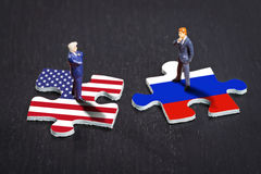 Relations between the USA and Russia Stock Photography