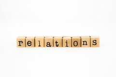 Relations wording isolate on white background Stock Photography