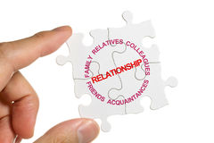 Relationship. Puzzle and Relationship, business concept Royalty Free Stock Photography