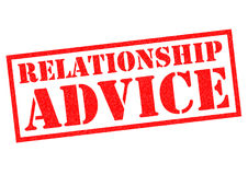 RELATIONSHIP ADVICE Stock Images