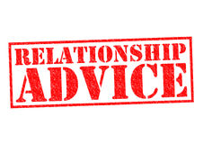 RELATIONSHIP ADVICE Stock Image