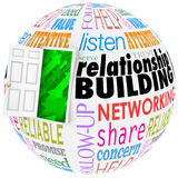 Relationship Building Words Ball Sphere Networking Paying Attent Stock Image