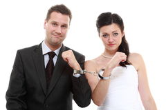 Relationship concept couple in divorce crisis Stock Photo