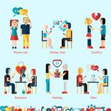 Relationship Concepts Set Royalty Free Stock Image