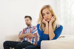 Relationship conflict. Young couple have problems in relationship Royalty Free Stock Image
