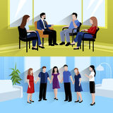 Relationship counseling 2 flat banners royalty free illustration