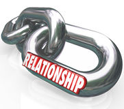 Relationship 3d Word Chain Links Family Partnership Together Stock Photo