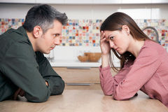 Relationship difficulties. Young couple having relationship difficulties Royalty Free Stock Image