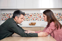 Relationship difficulties. Young couple having relationship difficulties royalty free stock photo