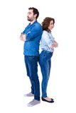 Relationship or divorce concept - full length portrait of young Royalty Free Stock Image