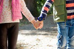 Relationship in family, lifestyle, brother and sister royalty free stock photo