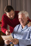 Relationship between father and son Royalty Free Stock Photography