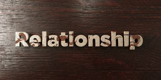 Relationship - grungy wooden headline on Maple - 3D rendered royalty free stock image. This image can be used for an online website banner ad or a print royalty free illustration