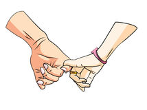 RelationShip Hand. Eps 10  illustration Design Royalty Free Stock Image