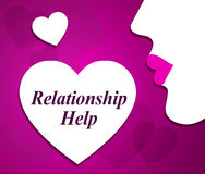Relationship Help Shows Find Love And Adoration Stock Photography