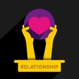 Relationship icon design Stock Image