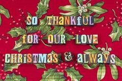 Relationship love joy hope Christmas typography royalty free stock photo