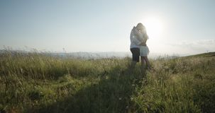 Relationship and love. Lovely couple together on the mountain. Lovely couple together on the mountain. Relationship and love stock video footage