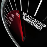 Relationship Marketing Speedometer Increase Customer Loyalty Royalty Free Stock Photos