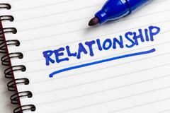 Relationship Note stock photo