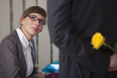 Relationship in office Stock Image