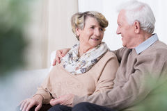 Relationship in old age. Happy people being in relationship in old age Royalty Free Stock Photography