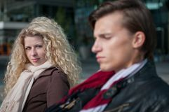 Relationship problem - couple portrait Royalty Free Stock Image