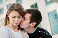 Relationship problem - couple portrait Stock Photography