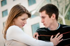 Relationship problem - couple portrait Stock Photo