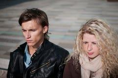Relationship problem - couple portrait Royalty Free Stock Photos