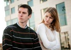 Relationship problem - couple portrait Stock Photos