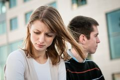Relationship problem - couple portrait Stock Image