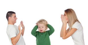Relationship problems. Consequences for the baby Stock Photography