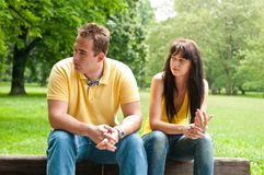 Relationship problems - couple Stock Image