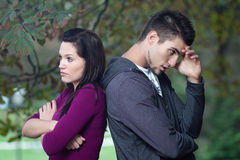 Relationship problems - young couple Royalty Free Stock Photography