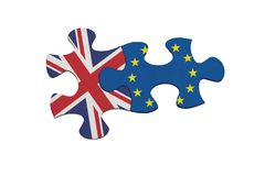Relationship between United Kingdom and European Union Stock Photos