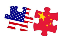 Relationship between United States and China Stock Photography