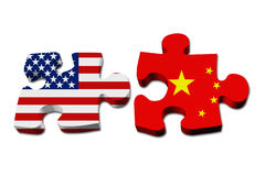 Relationship between the USA and China Royalty Free Stock Photography