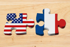 Relationship between the USA and France Stock Photo