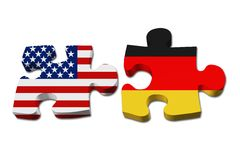 Relationship between the USA and Germany Royalty Free Stock Image