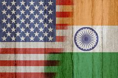 Relationship between the USA and India Royalty Free Stock Photography
