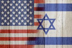 Relationship between the USA and Israel Stock Images