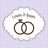 Relationship, wedding and love design. Stock Photography