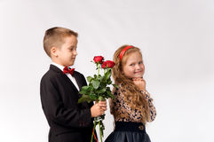 Relationship between young children Royalty Free Stock Images