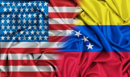 Relationships between countries United States and Venezuela.  stock photography