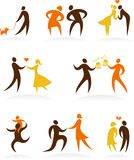 Relationships and family icons Stock Images