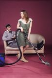 Relationships. Homemaker and husband. This image has attached release Royalty Free Stock Photo